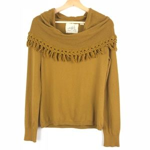 Angel of The North sweater M yellow cowlneck o1311